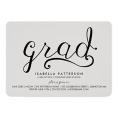 Leopard Print With Bow GraduationParty Invitation