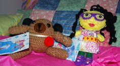 Mas muñecos en Crochet  y Paño Lency o decorativo con tarjeta de entrega!