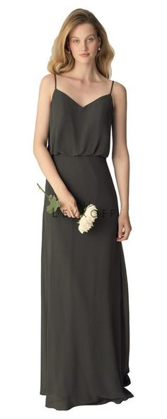 f4cdc69a1b310 Bill Levkoff Bridesmaid style# 1266. Chiffon spaghetti blouson top with a  soft V-
