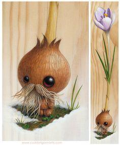 Adorably Strange Plant Creatures by Kristin Tercek (Augustus Crocus)
