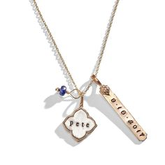 Our Madeline Personalized Lotus Charm Necklace is a hand stamped necklace made of eclectic personalized charms. Three Sisters Jewelry, Sister Jewelry, Jewelry Box, Custom Engraved Necklace, Hand Stamped Necklace, Birthstone Charms, Gold Filled Jewelry, Personalized Necklace, Necklace Designs