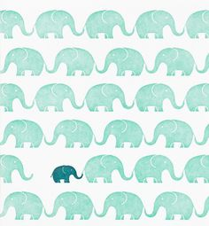 baby card with elephant motif / Design and illustration by Stephanie Ford Pattern Texture, Pattern Art, Pattern Design, Green Pattern, Elephant Pattern, Elephant Love, Elephant Print, Elephant Pillow, Elephant Walk