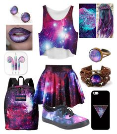 """""""Galaxy"""" by diamonds610 ❤ liked on Polyvore featuring JanSport and Casetify"""
