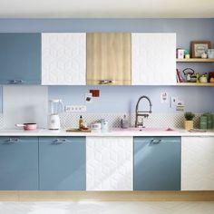 Casinha colorida: Cozinhas inspiradas no século passado