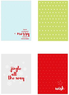 Free 3x4 Christmas Journal Cards