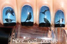 More Nail Polish: Fake Tattoos - The Birds