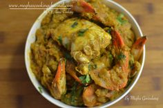 Crab Masala – A traditional & very authentic recipe from south india. I still remember the taste of my grandma's crab masala, no words in the dictionary can explain the taste of it. my grandpa & even my dad use to go for crabbing in the paddy fields locally & they used get the fresh small crabs & they taste heavenly. You get the similar taste from blue crabs, they are little big in size but they are the most excellent for this recipe.