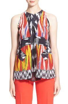 ALTUZARRA 'Hummingbird' Print Silk Sleeveless Blouse. #altuzarra #cloth #