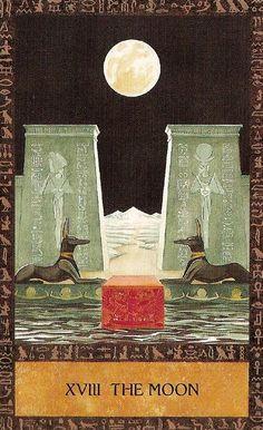 The Moon Tarot Card Art | Modern Oracle Deck | Divination | Major Arcana Cards