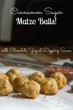 Cinnamon Sugar Matzo Balls! It's what to do with Passover leftovers.
