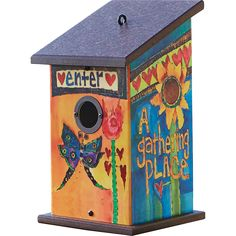 Enter Birdhouse from award-winning artist Stephanie Burgess, Painted Peace.                                                                                                                                                     More