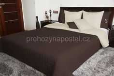 Oboustranné deky na postel hnědé barvy