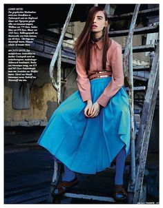 visual optimism; fashion editorials, shows, campaigns & more!: vorfreude: helene hammer by george katsanakis for madame germany july 2014