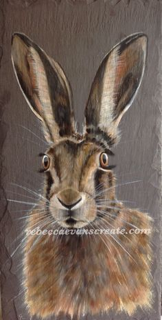 Image result for hares paintings slate