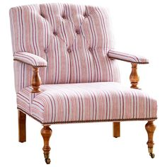 Vintage Stripe Oyster Chair