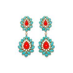 HELENE ZUBELDIA | Earrings glass stones and Swarovski crytals