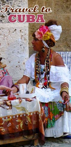Cuba's streets are filled with movement and colour. Here is a fortune teller on the streets of Old Havana