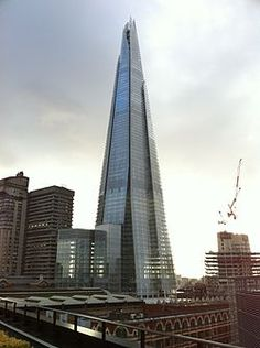 Shard London Bridge - Designed by Renzo Piano, as of July 2012 is the tallest building in Europe standing 1,016ft above ground level.