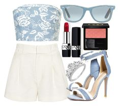 """""""flair"""" by boneyfruit ❤ liked on Polyvore featuring Ray-Ban, Topshop, Apiece Apart, Christian Dior, Gucci and Boohoo"""