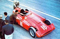 1956 GP Francji (Reims) Ferrari D50 Streamliner (Alfonso de Portago)