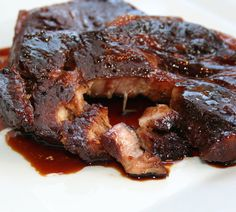 Here is a recipe for pork that I cooked some time ago .- Here is a recipe for pork that I cooked a few weeks ago but not yet shared with you. I stuck this recipe at my house … - Pork Recipes, Cooking Recipes, Healthy Recipes, Healthy Food, Steaks De Porc, Confort Food, Tasty, Yummy Food, Spare Ribs