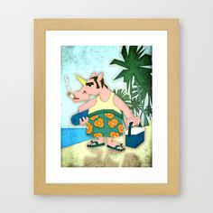 Last Days of Summer Unicorn Framed Art Print