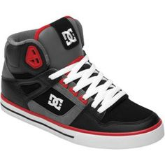 DC Shoes Spartan Hi WC - Men's - Skate - Shoes - White/Grey/Red