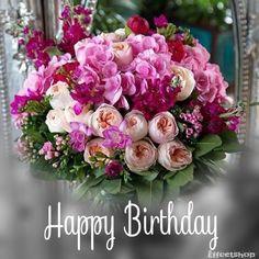 Happy Birthday Verses, Happy Birthday Flower Cake, Happy Birthday Flowers Wishes, Happy Birthday Greetings Friends, Beautiful Birthday Wishes, Birthday Wishes Cake, Happy Birthday Celebration, Happy Birthday Candles, Birthday Blessings