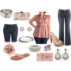 pink passion, a summer-y day to night look, #plus size