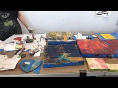 Lisa Pressman Live Demo: oil , cold wax and mixed media - YouTube