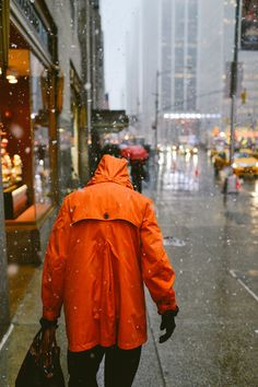 We may have to invest in a few orange rain coats this winter!