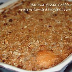 Banana Bread Cobbler #recipe #food #cooking #banana #bread #cobbler