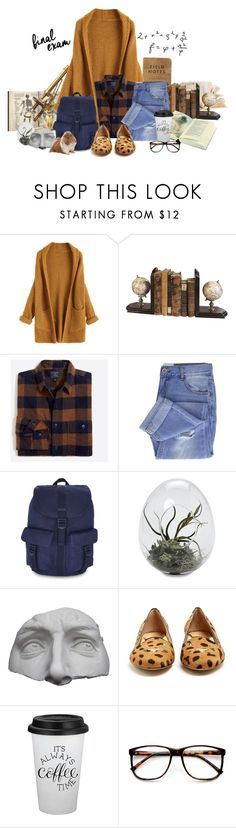 """Get Studying!"" by maggiecakes ❤ liked on Polyvore featuring Authentic Models, Taya, Herschel Supply Co., Romanelli, Charlotte Olympia and ZeroUV"