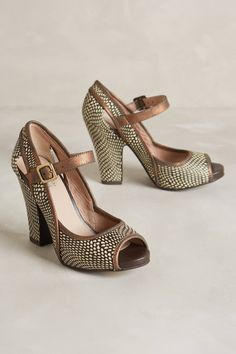Leaf-Roller Heels - anthropologie.com