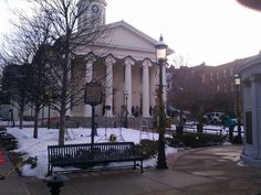 Reporters and crews wait at the courthouse for the start of the Sandusky appeals hearing - 01.10.13 (WHP-TV)