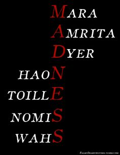 The Unbecoming of Mara Dyer by Michelle Hodkin - Noah & Mara's full name