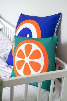 Printed cushion cover - Blueberry - Hokolo
