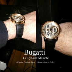 Custom Panerai, Breitling, Bugatti 43 Flyback Atalante Handmade Alligator Leather Strap - Build Your Own - Fits Many Watch Models by ChristianStraps on Etsy Panerai Watches, Breitling, Panerai Watch Straps, Watch Model, Omega Seamaster, Make And Sell, Bugatti, Models, Luxury