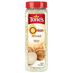 Tone's Minced Onion 15 Oz Shaker for sale online Dehydrated Onions, Glitter Purse, Spice Labels, Healthy Groceries, Minced Onion, Smoothie Drinks, Smoothies, Different Recipes, Pure Products