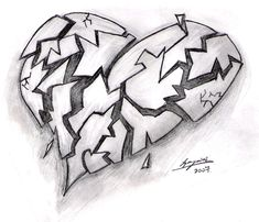 broken heart drawings - Google Search