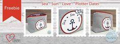 Freebie Plotterdatei Sea Sun Love