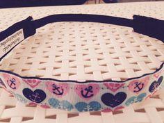 No-slip headband hearts and anchors