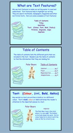Text Features $