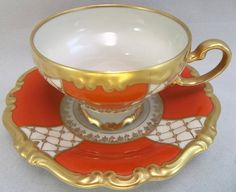 Rosenthal Selb Pompadour Germany Tea Cup Saucer
