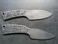Forged look knives with hamons