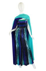 Rare 1960s Sequin Givenchy Gown & Wrap at 1stdibs