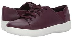 FitFlop Sporty Lace-Up Sneaker Women's Lace up casual Shoes Ballerinas, Clogs, Fitflop, Discount Shoes, Casual Shoes, Lace Up, Sporty, Sneakers, Plum