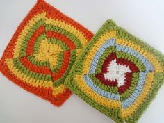 ▶ How to Crochet a Square Motif Pattern #9 │ by ThePatterfamily - YouTube