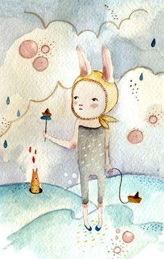 Childrens Wall Art Print -La Marea I, Print 8x11