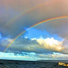 Double Rainbow!  This Is The Sign From God. The Covenant He Gave To Us....